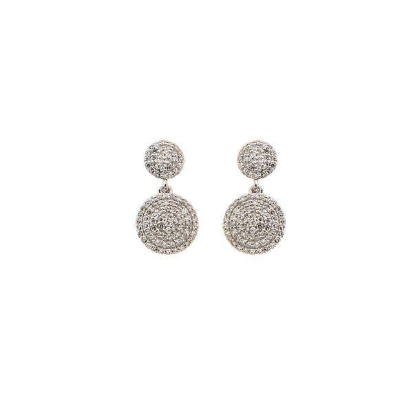 Pave Diamond Circle Earrings