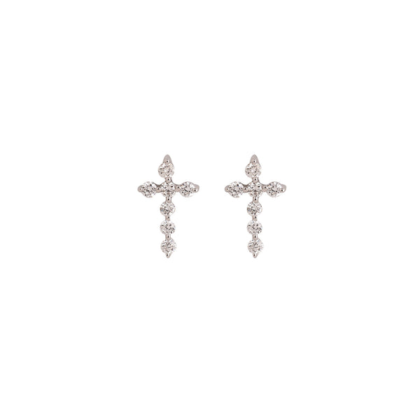 Diamond Cross Stud