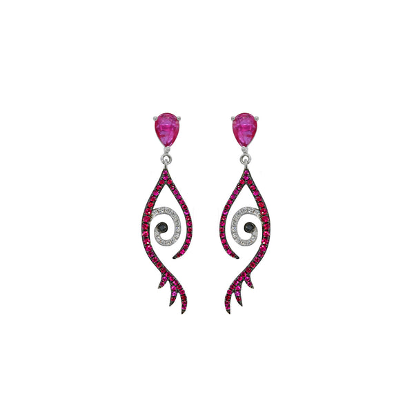 Ruby Tattoo Earring