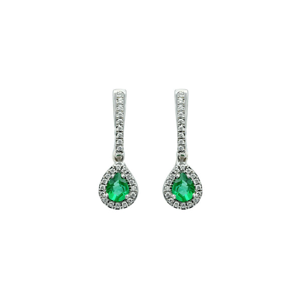 Pear shaped Emerald earrings