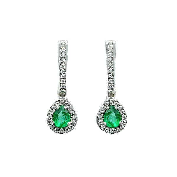 Emerald Drops Earring
