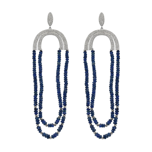 Sapphire and Diamond Imbue Earring