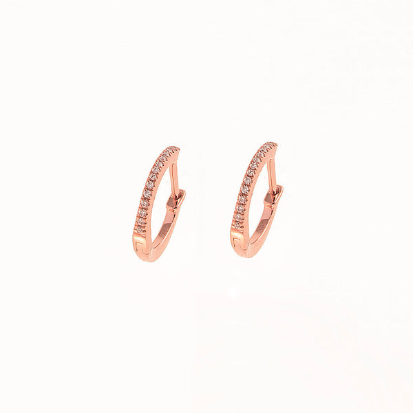 Mini Diamond Hoops