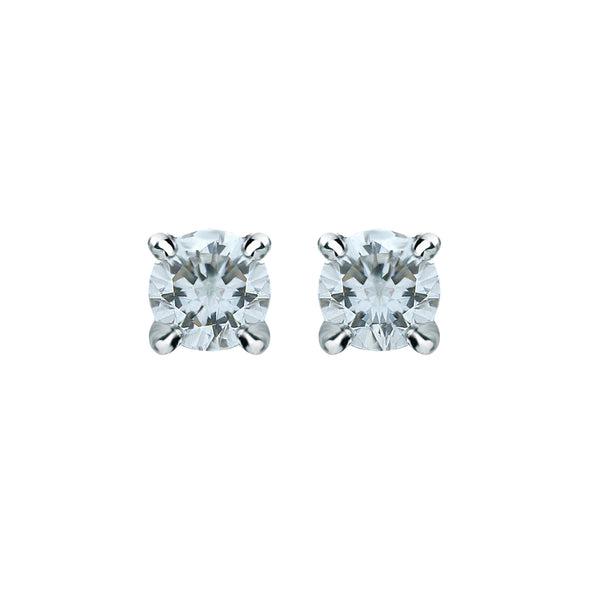 0,06CT, G, VS2 Diamond Stud Earring