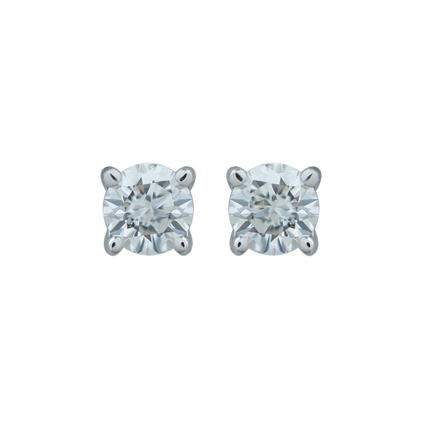 0,09CT, G, VS2 Diamond Stud Earring