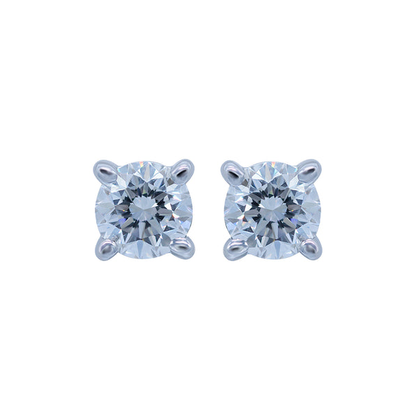 0.30CT, F, VVS2 Diamond Stud Earring