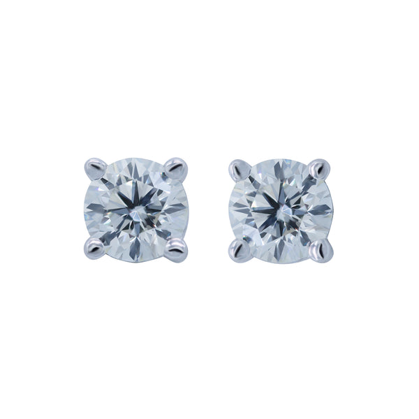0.41CT, (H/I), VVS2 Diamond Stud Earrings