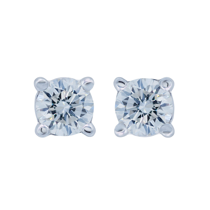 0.50ct, (H/I), VVS2 Diamond Stud Earrings
