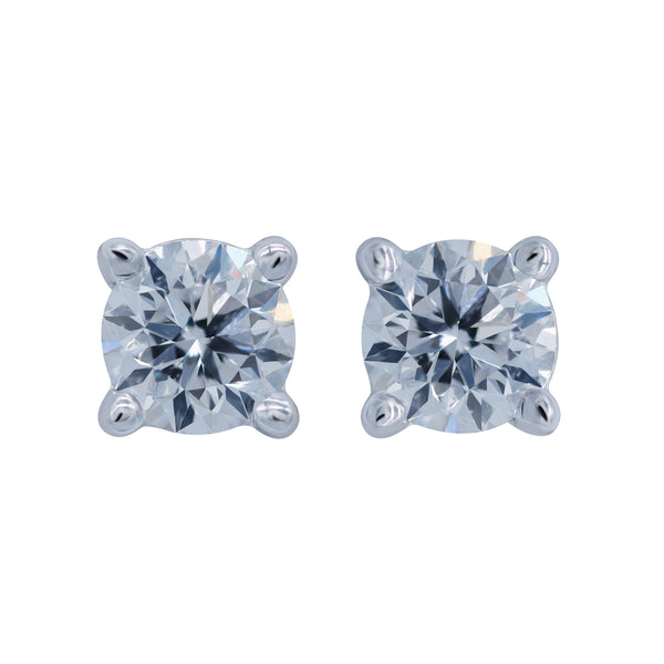 0.60CT, F, VVS1 Diamond Stud Earrings