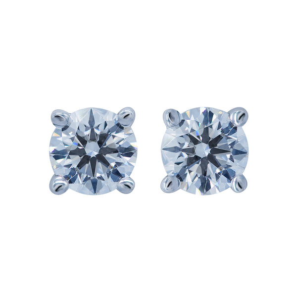 0.80CT, D, VS1 Diamond Stud Earrings