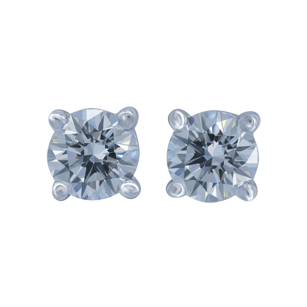 0.90ct, F, VVS1 Diamond Stud Earrings