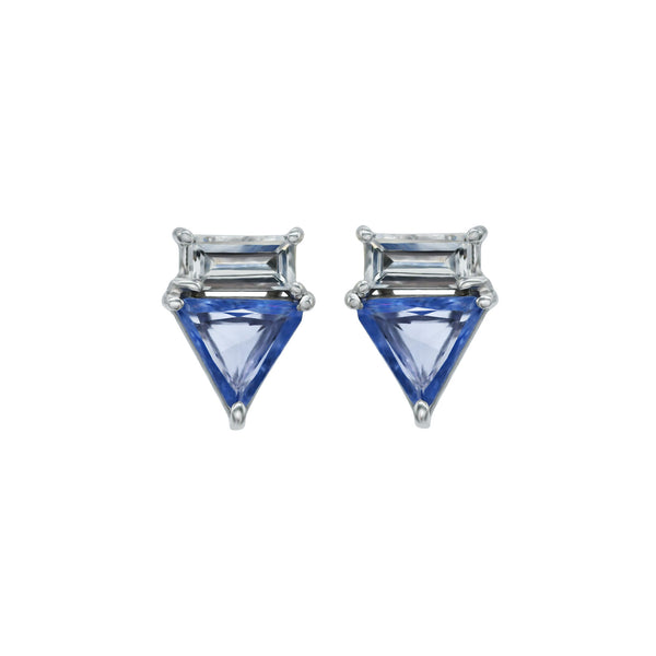 Triangle Sapphire Earrings
