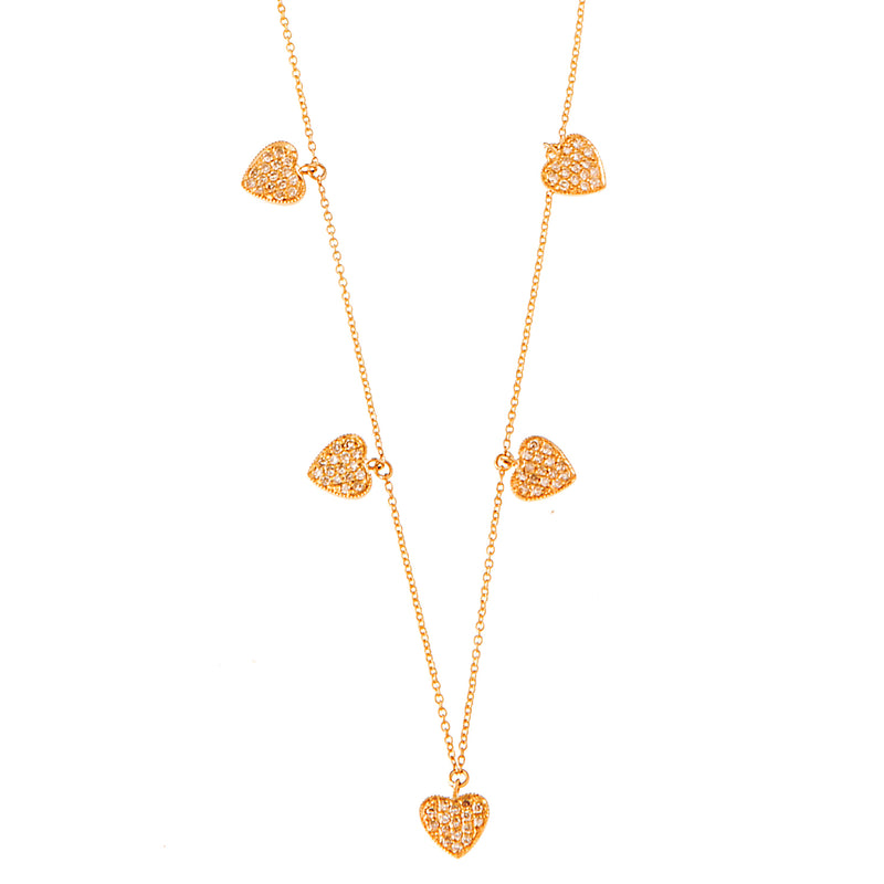 Dangling Hearts Necklace