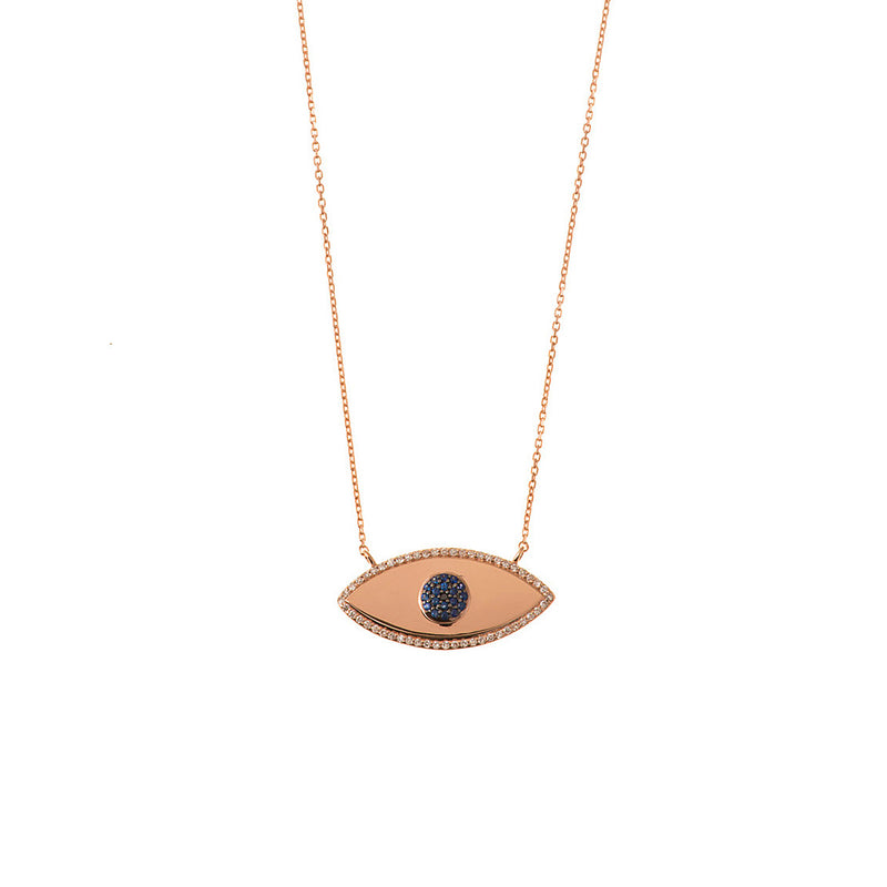 Diamond Encircled Eye Necklace