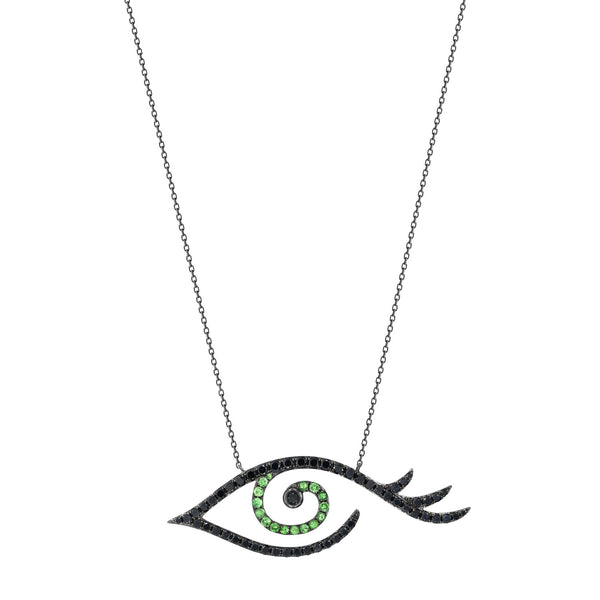Large Eye Tattoo Necklace