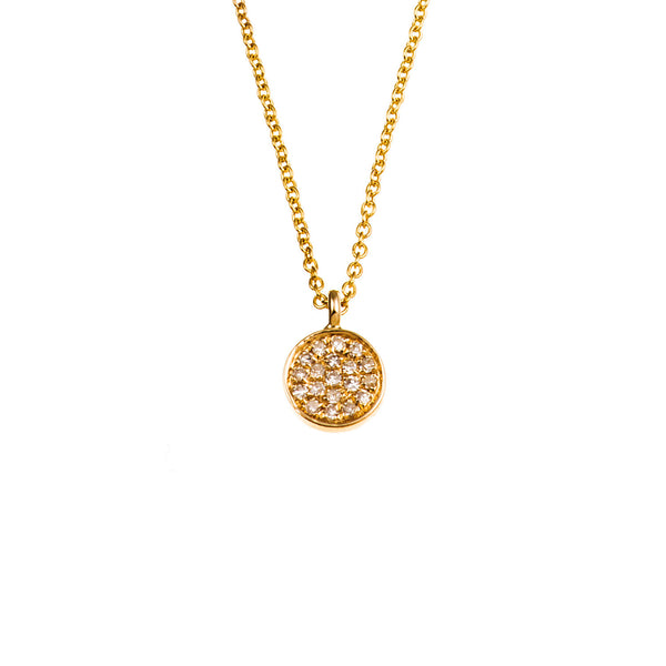 Mini Diamond Circle Necklace