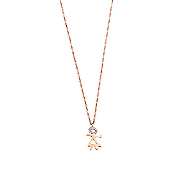 Diamond Little Girl Necklace