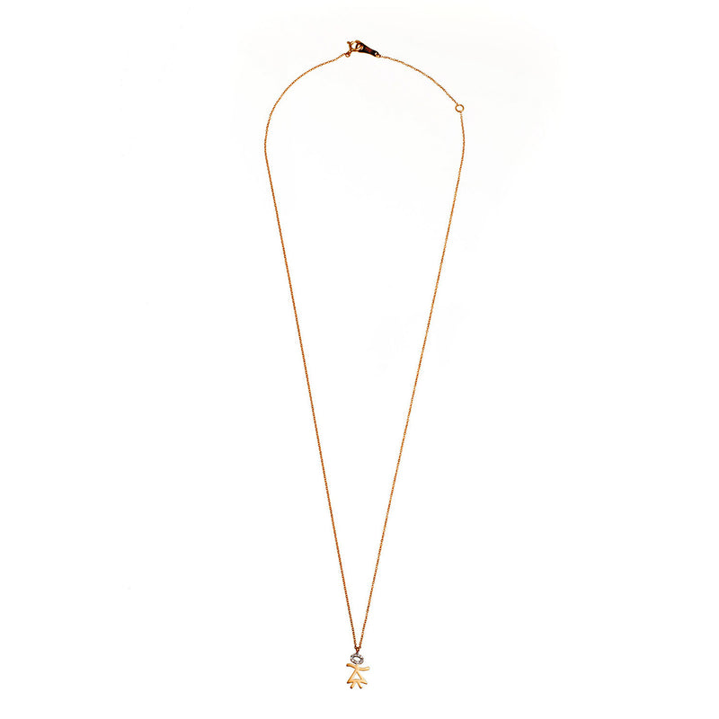 Gold and Diamond Girl Necklace