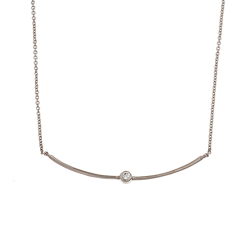 Single Diamond Br Necklace