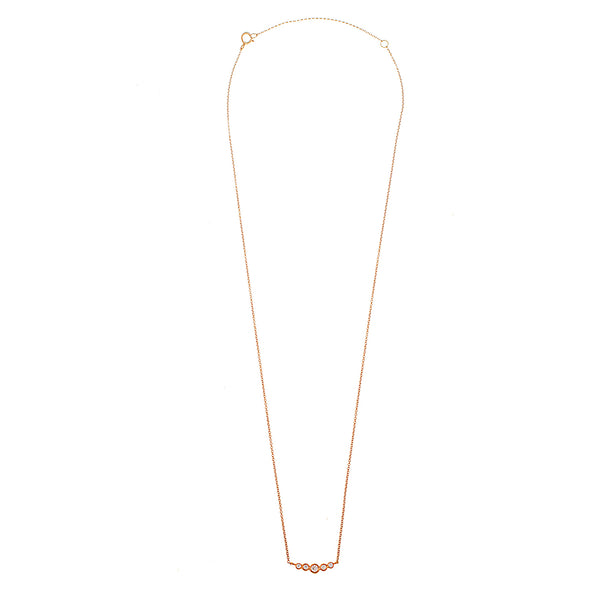 Diamond Dots Bar Necklace