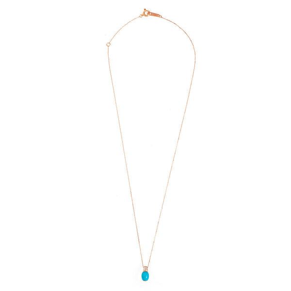 Turquoise Necklace. Diamond necklace. Chain necklace. Rose Gold necklace. Κολιέ χρυσό. Κολιέ με τιρκουάζ. Κολιέ ροζ χρυσό.