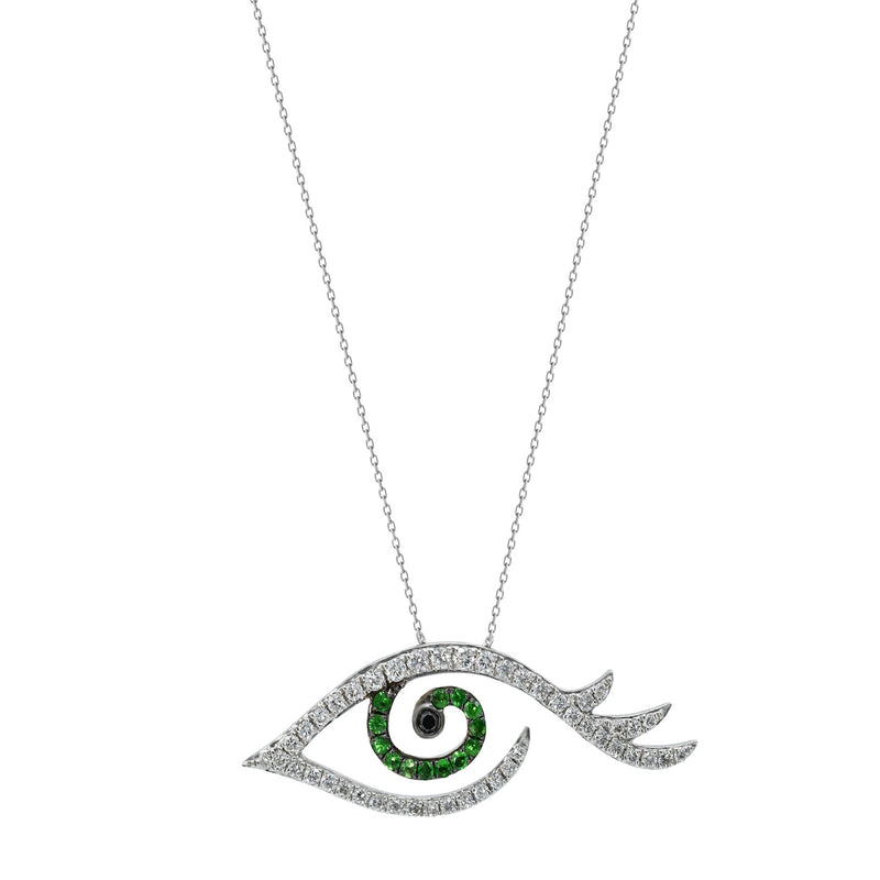 Tsavorite Tattoo Necklace