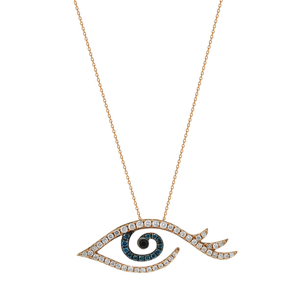 Blue Diamond Eye Necklace