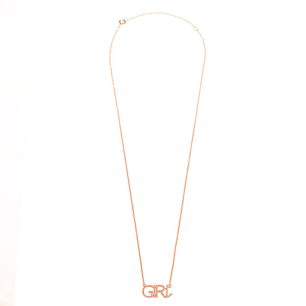 "Diamond ""Girl"" Necklace"