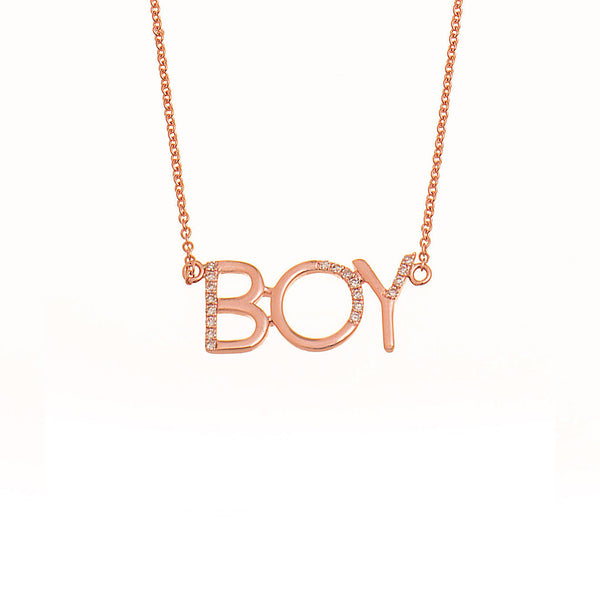 "Diamond ""Boy"" Necklace"