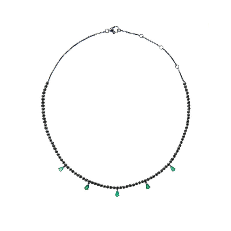 Emerald Drops Riviera Necklace