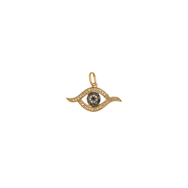 Blue Diamond Eye Pendant
