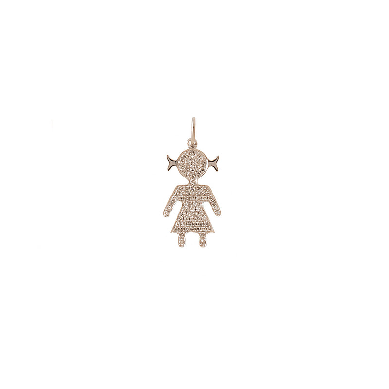 Diamond Covered Girl Pendant