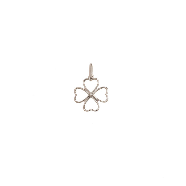 Diamond 4 Leaf Clover Pendant