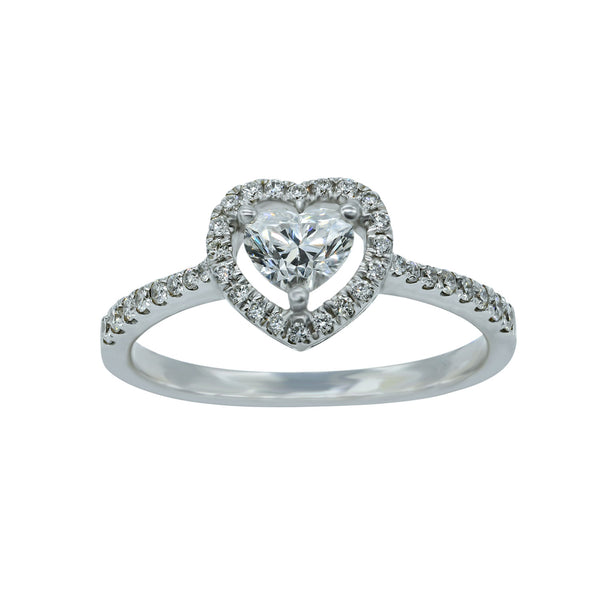 Every woman want a heart shaped diamond ring