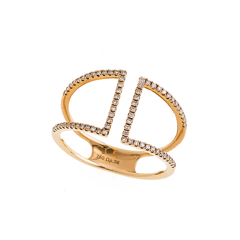 18K Gold with diamonds ring perfect for everyday.