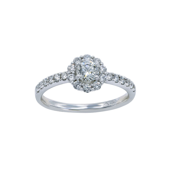 0.32CT, H, VVS2 Mirage Setting Diamond Ring