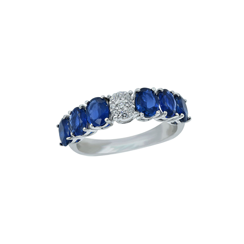 Diamond Pop Sapphire Eternity Ring