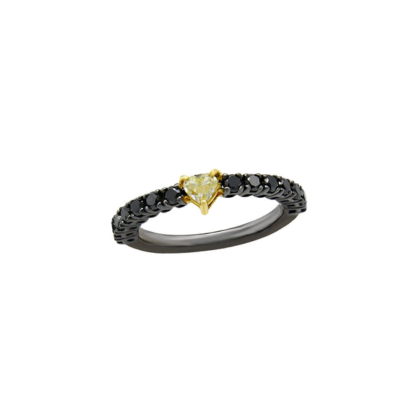 Yellow Heart Diamond Ring