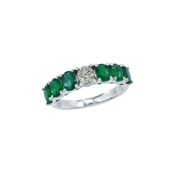Diamond Pop Emerald Eternity Ring