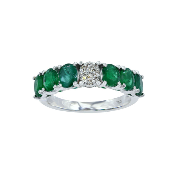 Copy of Diamond Pop Emerald Eternity Ring