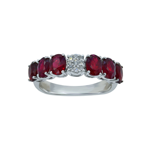 Diamond Pop Ruby Eternity Ring
