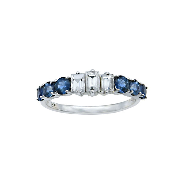 Sapphire with diamonds. The perfect combination.