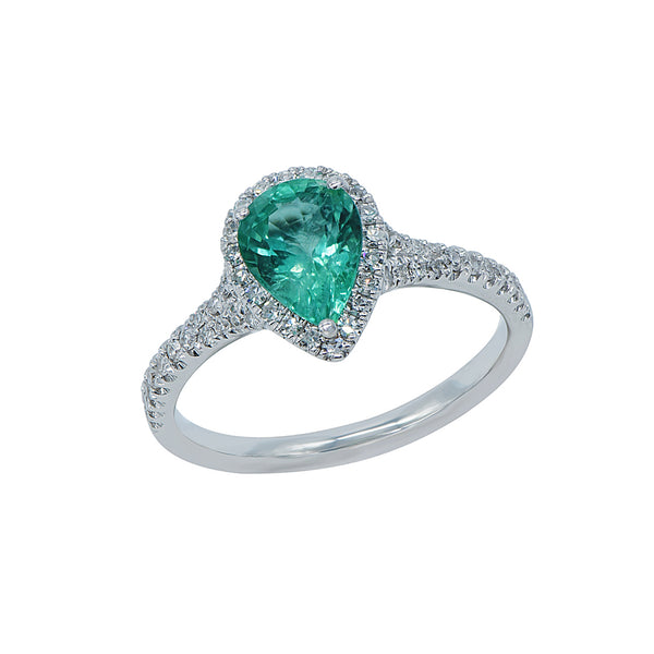 Emerald Tear Drop Ring