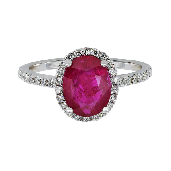 Oval Cut Ruby Ring