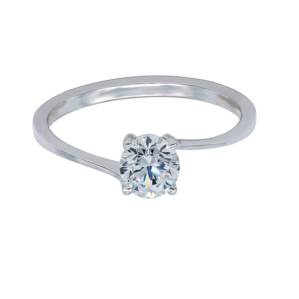 0.50CT, E, VVS2 Twist Setting Diamond Ring