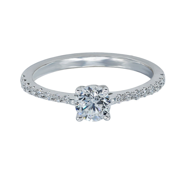 0.50CT, F, VVS1 Aria Setting Diamond Ring