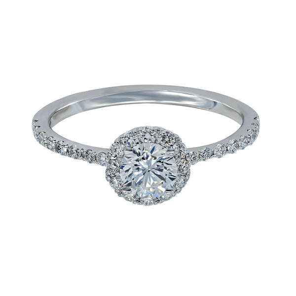 0.50CT, F, VVS2 Mirage Setting Diamond Ring