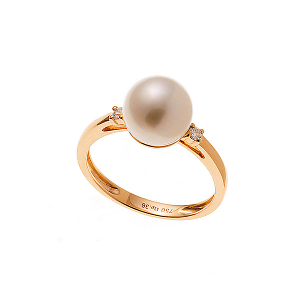 Two Diamond Pearl Ring