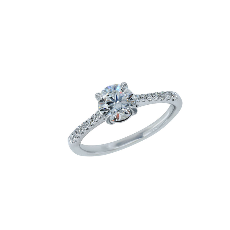 0.80CT, F, VS2 Aria Setting Engagement Ring