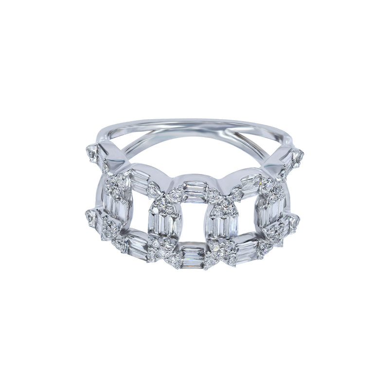 Baguette Links Ring